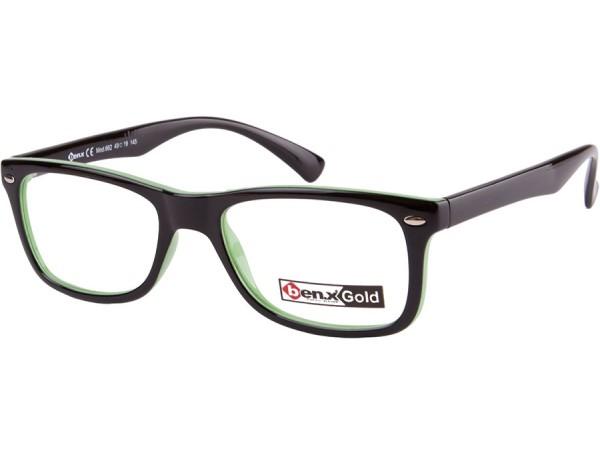 Unisex dioptrické okuliare ben.x 662 Black&Green