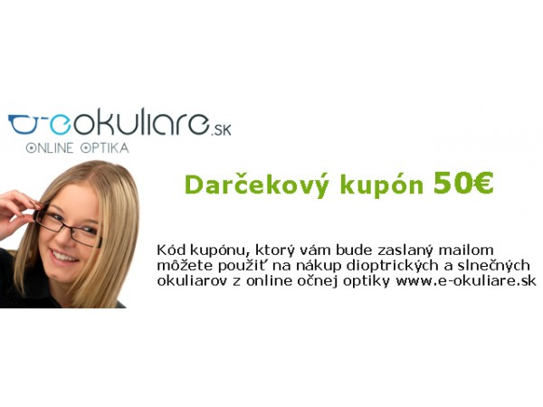Darčekový kupón na okuliare v hodnote 50€
