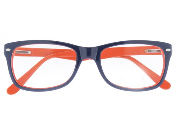 Okuliare Wayfarer Blue & Orange