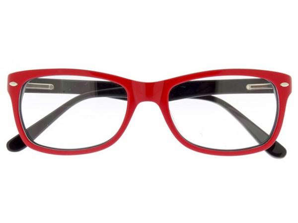 Okuliare Wayfarer Červené