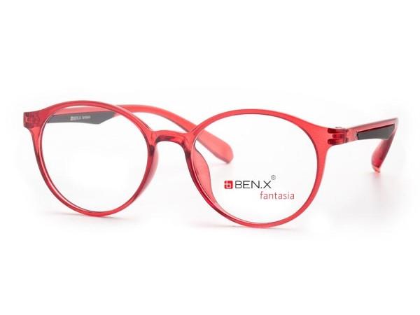 Dámske dioptrické okuliare ben.x 3501 Red