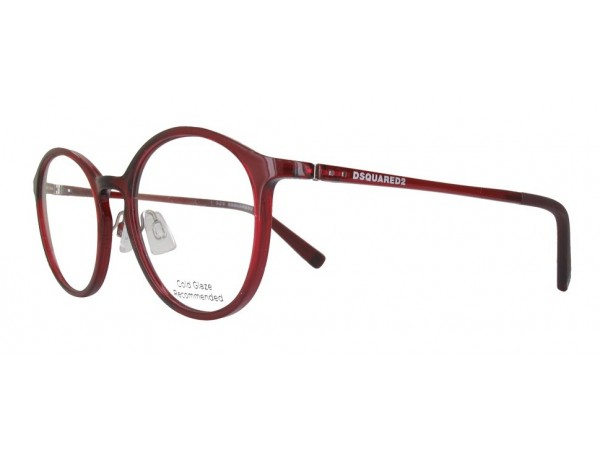 Unisex dioptrické okuliare DSQUARED2 DQ5219 Red - eOkuliare.sk a9c1578b416