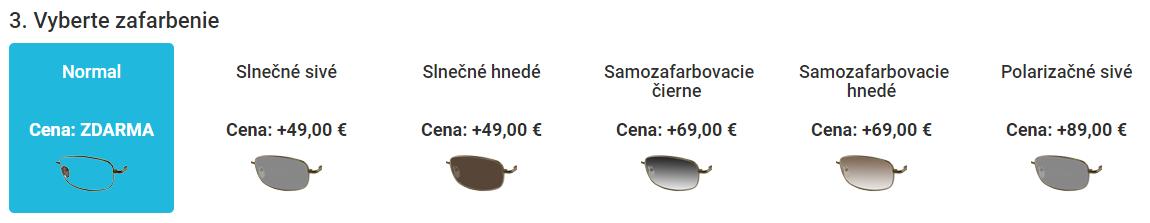 Výber zafarbenia okuliarových šošoviek - eOkuliare.sk