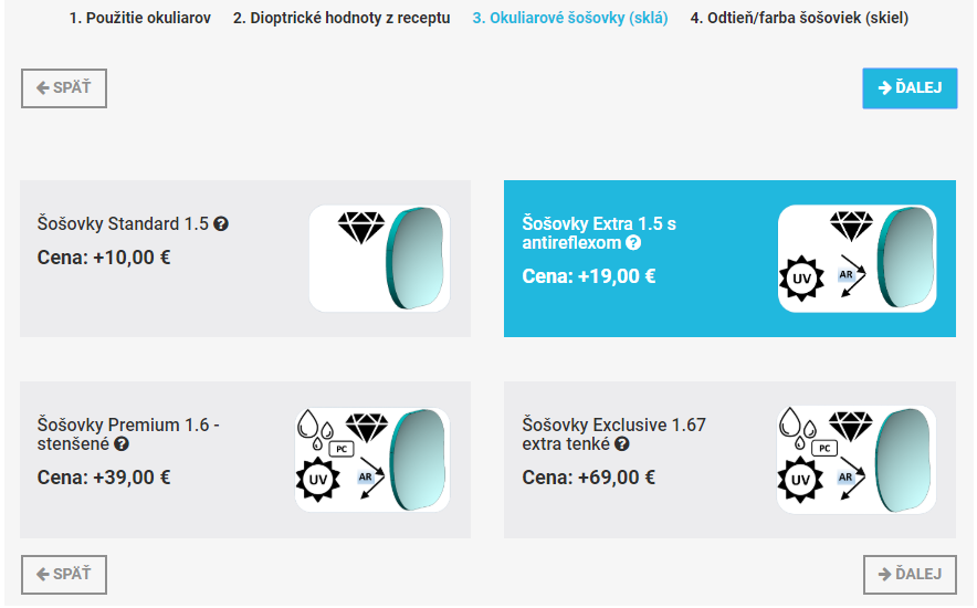 Výber okuliarových šošoviek - eOkuliare.sk