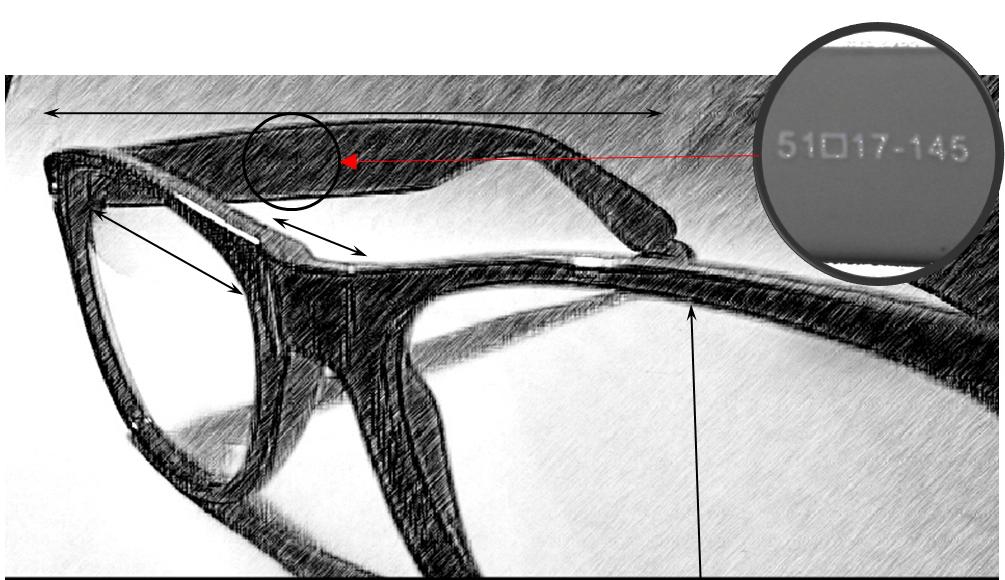 Rozmery okuliarového rámu